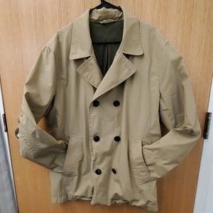 Khaki Double-Breasted GAP Jacket
